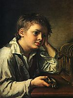 Boy with a Dead Goldfinch, 1829, tropinin