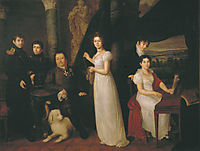 Family portrait of counts Morkovs, 1813, tropinin