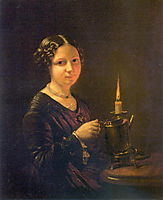 Girl with a candle, tropinin