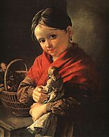 Girl with a Doll, 1841, tropinin