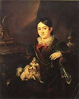 Obolenskaya NA, 1833, tropinin