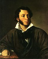 Portrait of Alexander Pushkin, 1827, tropinin