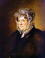 Portrait of an elderly woman in a bonnet, 1820, tropinin