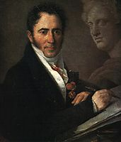 Portrait of the Artist N.I. Utkin with a Pencil, 1841, tropinin