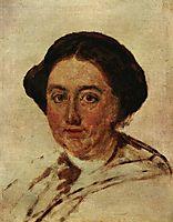 Portrait of E.P. Rostopchin. Etude, 1853, tropinin