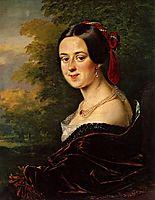 Portrait of E.A. Sisalinoy, 1846, tropinin