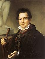 Portrait of Ivan Vitali, 1839, tropinin