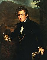 Portrait of Karl Brulloff, 1836, tropinin