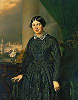 Portrait of Levitskaya Volkonskaya, 1852, tropinin