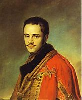 Portrait of N. N. Rayevsky Jr, 1842, tropinin