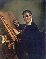 Portrait of Nikolai I. Utkin, 1824, tropinin