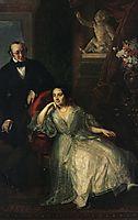 Portrait of Nikolai Ivanovich and Nadezhda Mikhailovna, tropinin