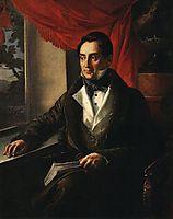 Portrait of P. N. Zubov, 1839, tropinin