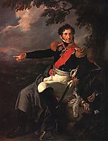Portrait of the Prince P. I. Bagration, 1815, tropinin