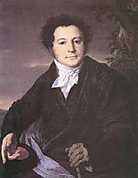 Portrait of A.A. Sannikov, 1823, tropinin