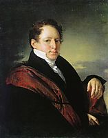 Portrait of Sergei Nechaev D, tropinin
