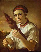 A Spinner, 1820, tropinin