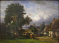 Apple Harvest in Normandy, 1865, troyon