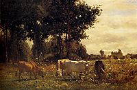 Cows Grazing, troyon