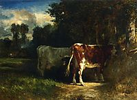 Cows in a Landscape, troyon
