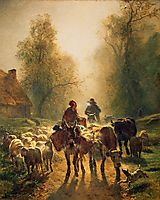 On the Way to the Market, 1859, troyon