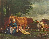 Pastoral Scene, c.1860, troyon