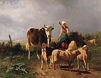 Return of the Herd, c.1860, troyon