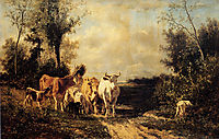 Returning From Pasture, troyon