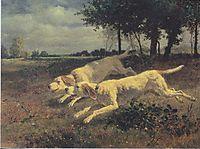 Running dogs, 1853, troyon