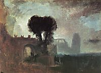 Archway with Trees by the Sea, 1828, turner