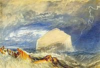 The Bass Rock, for -The Provincial Antiquities of Scotland-, 1824, turner