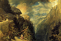 The Battle of Fort Rock, Val d-Aoste, Piedmont, turner