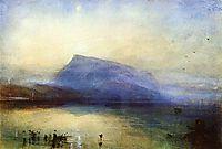 The Blue Rigi, Lake of Lucerne Sunrise, 1842, turner