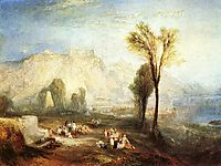 The Bright Stone of Honor, Ehrenbrietstein and the Tomb of Marceau, from Byron-s Childe Harold, 1835, turner