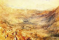 The Brunig Pass, from Meringen, 1847-1848, turner