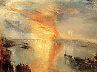 The Burning of the Houses of Parliament, 1834, turner