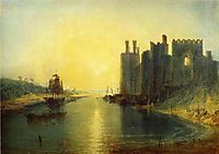 Caernarvon Castle, 1799, turner