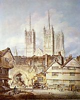 Cathedral Church at Lincoln, 1795, turner