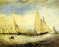 East Cowes Castle, John Nash, the Regatta beating to windward, 1828, turner