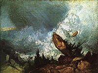 The Fall of an Avalanche in the Grisons, 1810, turner
