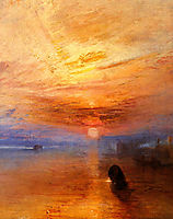 The Fighting Temeraire, detail, 1838, turner