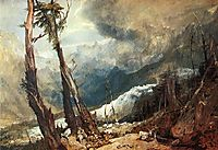 Glacier and Source of the Arveron, Mer de Glace, 1803, turner
