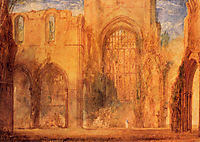 Interior of Fountains Abbey, Yorkshire, turner