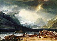The Lake of Thun, Switzerland, 1806, turner