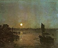Moonlight, A Study at Millbank, 1797, turner