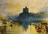 Norham Castle, on the River Tweed, turner