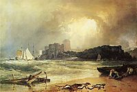 Pembroke Caselt, South Wales, Thunder Storm Approaching, 1801, turner