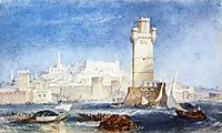 Rhodes, for Lord Byron-s Works, 1823-1824, turner