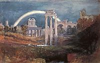 Rome, The Forum with a Rainbow, 1819, turner