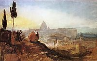 Rome, Saint Peter-s from the Villa Barberini, 1819, turner
